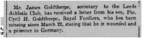 Yorkshire Post 4th May 1918