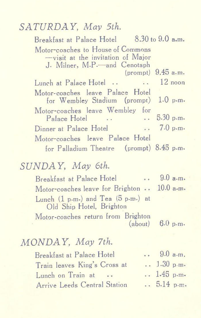 Programme of Arrangements