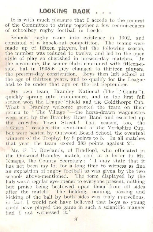 Goldthorpe Cup 1952-53 article