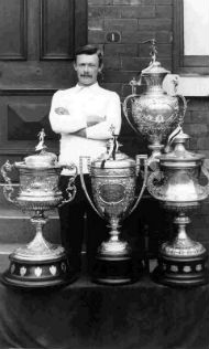 Walter Goldthorpe with all 4 cups